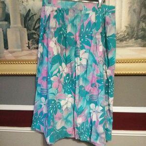 "Hand made vintage floral summer skirt waist 16"" le"